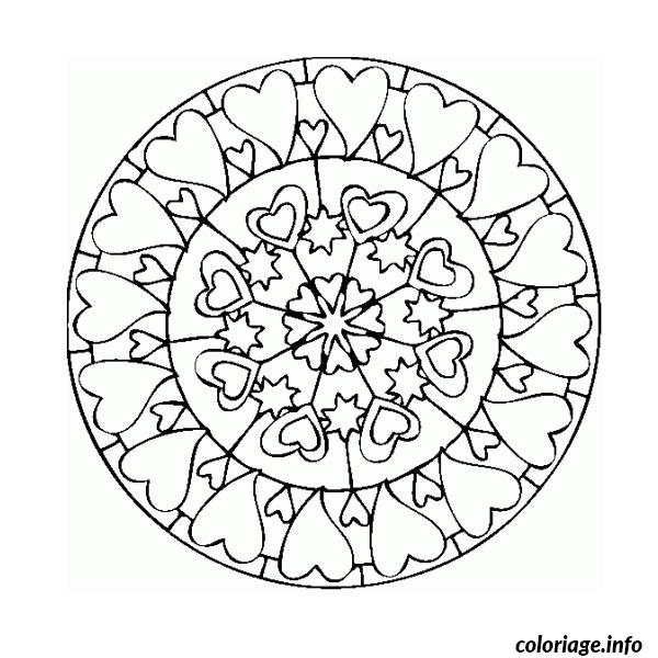 Coloriage mandala d amour dessin - Mandala amour ...