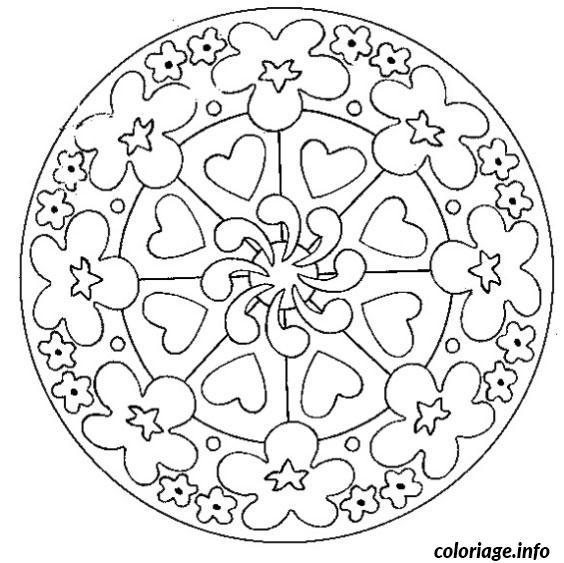 Coloriage mandala fete des meres dessin - Chat a colorier adulte ...