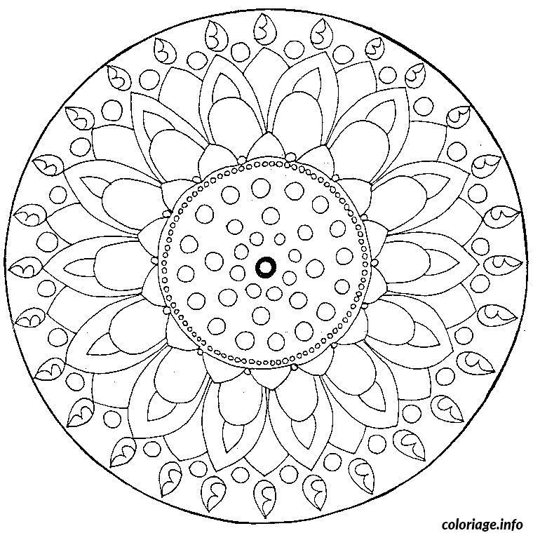 Coloriage mandala maternelle dessin - Mandala a colorier en ligne ...