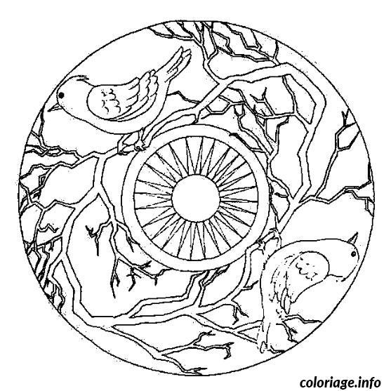 Coloriage mandala oiseau - Dessin a imprimer oiseau ...