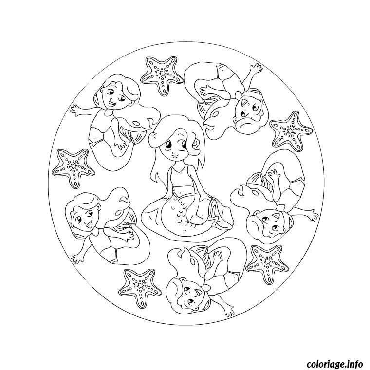 Coloriage mandala princesse dessin - Coloriages princesses gratuits ...