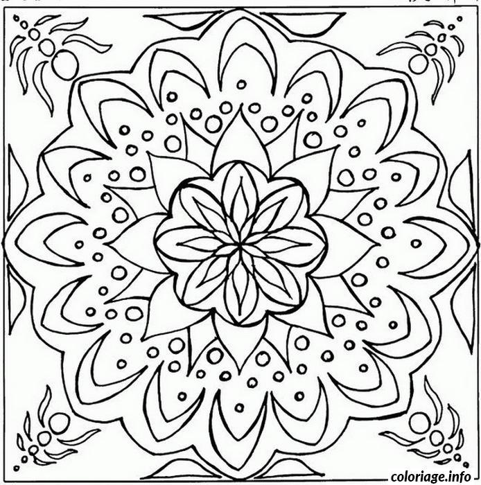 Dessin mandala difficile 16 Coloriage Gratuit à Imprimer
