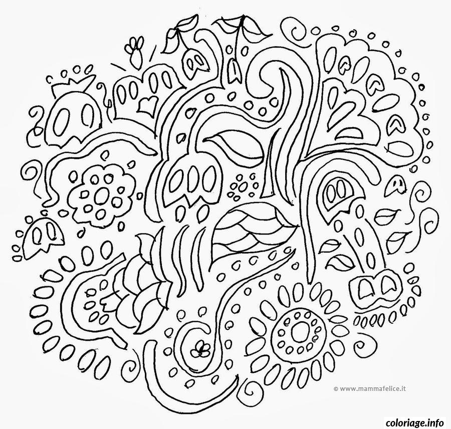 Coloriage Emoji Difficile.Coloriage Mandala Difficile 23 Dessin