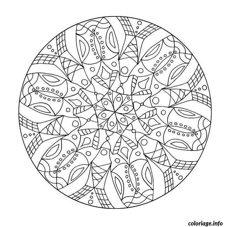 Dessin mandala difficile 27 Coloriage Gratuit à Imprimer