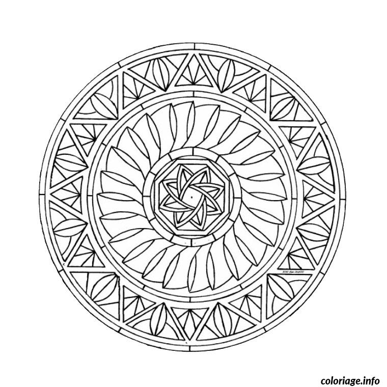 mandala difficile 3 coloriage dessin 597