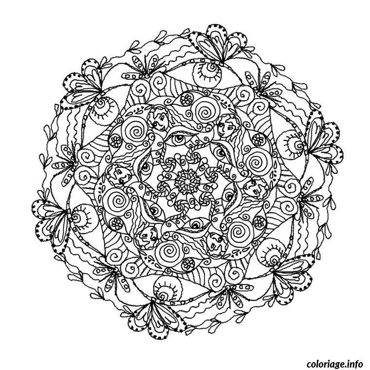 Coloriage mandala complexe dessin - Imprimer coloriage mandala ...