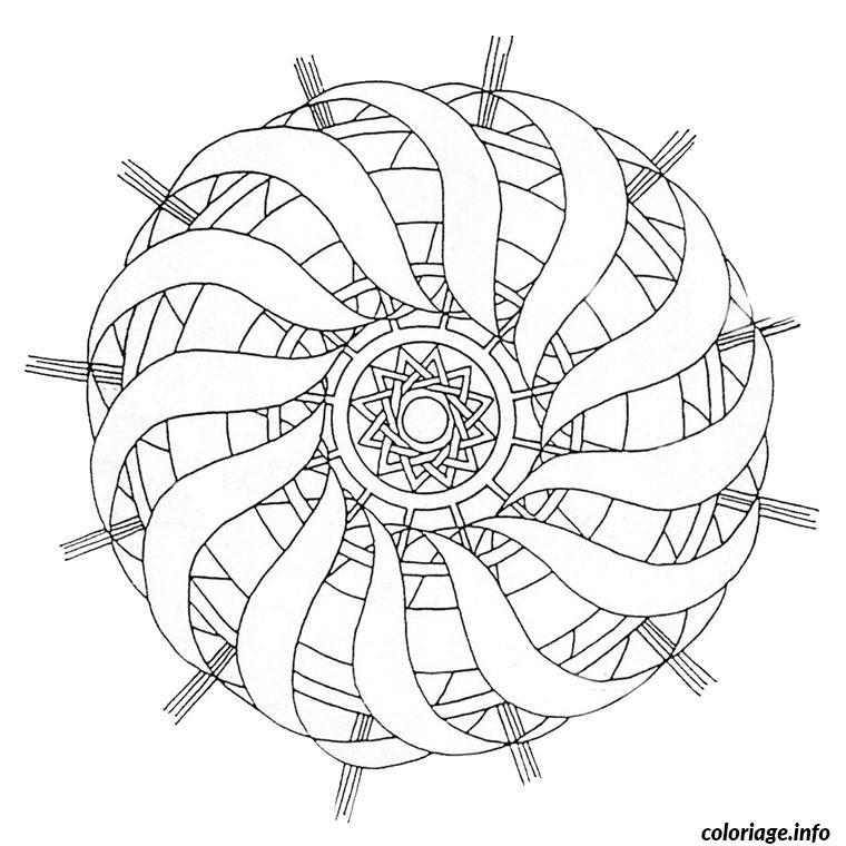 Coloriage mandala difficile 14 dessin - Mandala difficile a imprimer ...