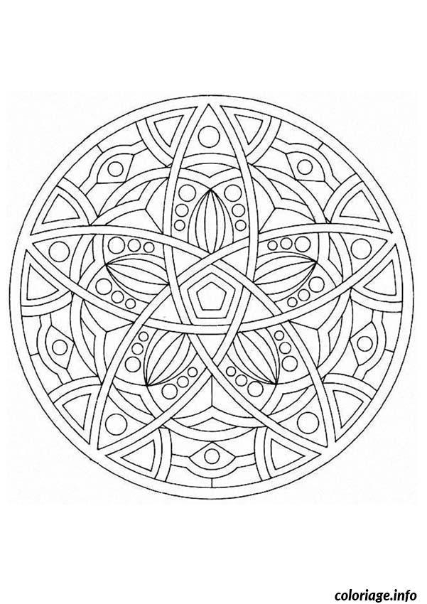 mandala difficile 9 coloriage dessin 605
