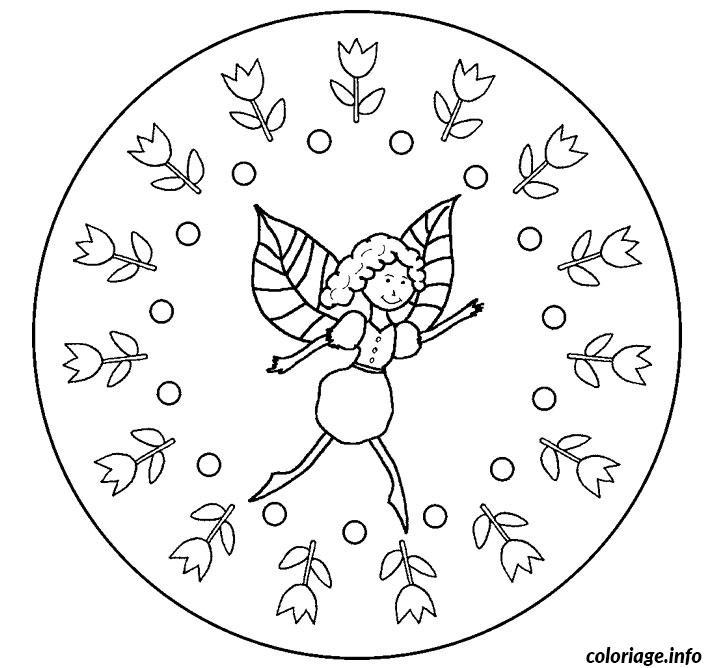 Coloriage mandala fee dessin - Dessin a colorier fee ...