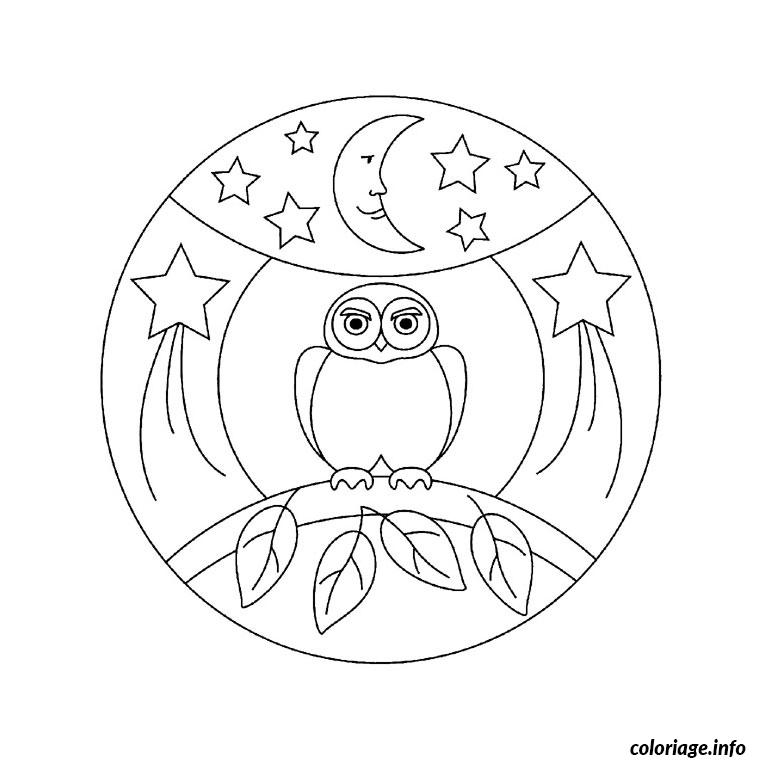 Coloriage mandala hibou dessin - Coloriage de hibou ...