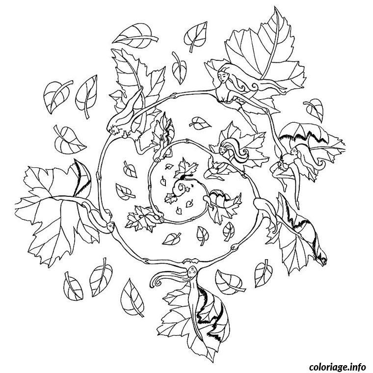 mandala automne coloriage dessin 612