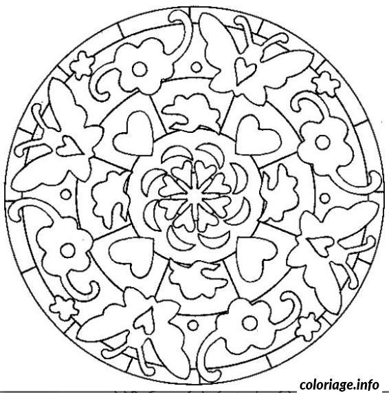 Coloriage Mandala De Coeur Dessin