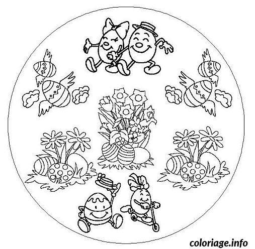 Coloriage Mandala Oeuf De Paques dessin
