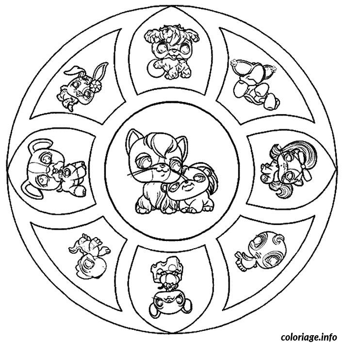 Coloriage mandala petshop dessin - Mandala a colorier en ligne ...