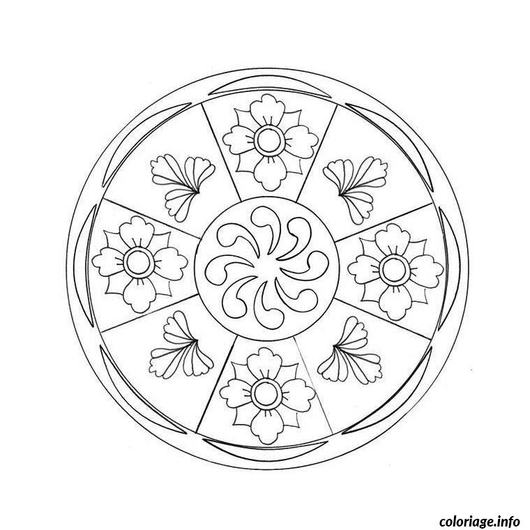 Coloriage tv mandala dessin - Mandala a colorier en ligne ...