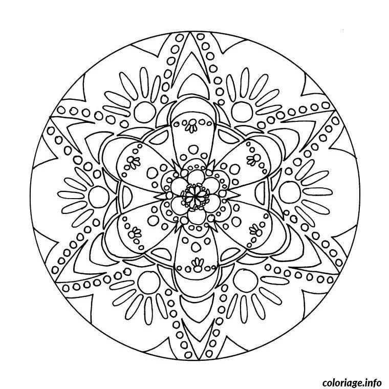 Coloriage Mandala De Fleur dessin