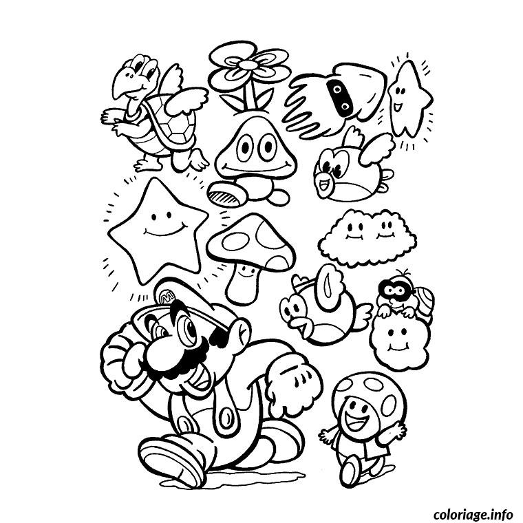 Coloriage Gratuit Mario.Coloriage Mario Party 8 Jecolorie Com