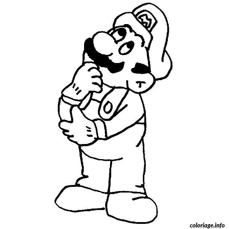Coloriage Mario Brosse Dessin