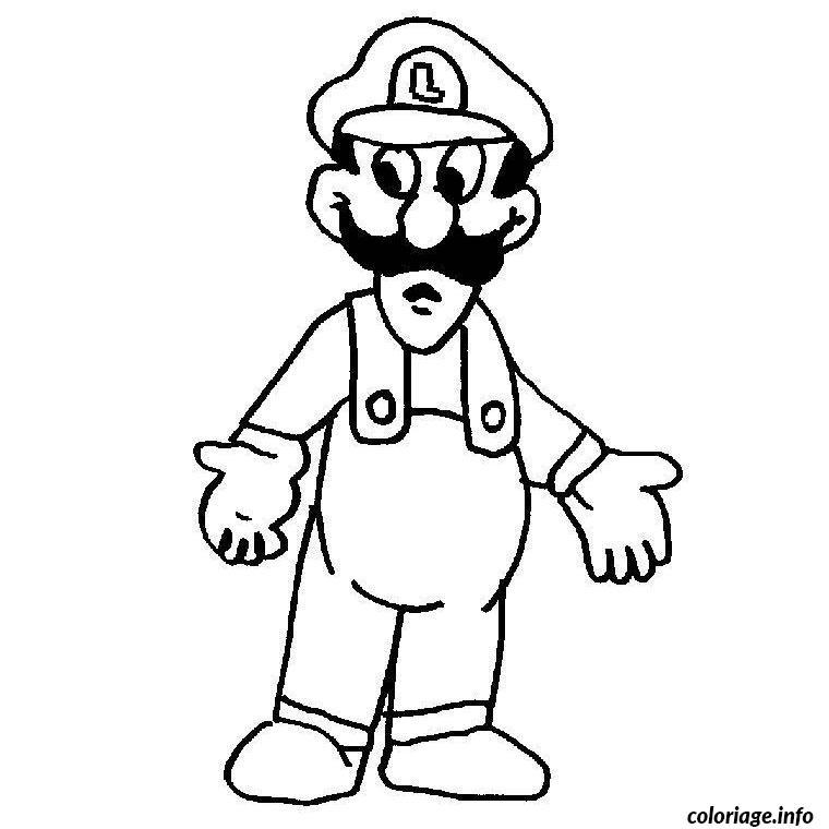 Coloriage Mario Luigi Dessin Mario A Imprimer