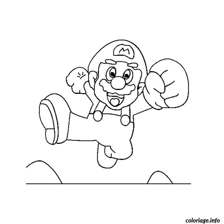 Coloriage Super Mario Dessin