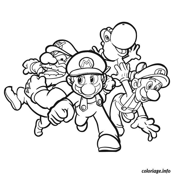 Coloriage Mario Et Ses Amis Dessin