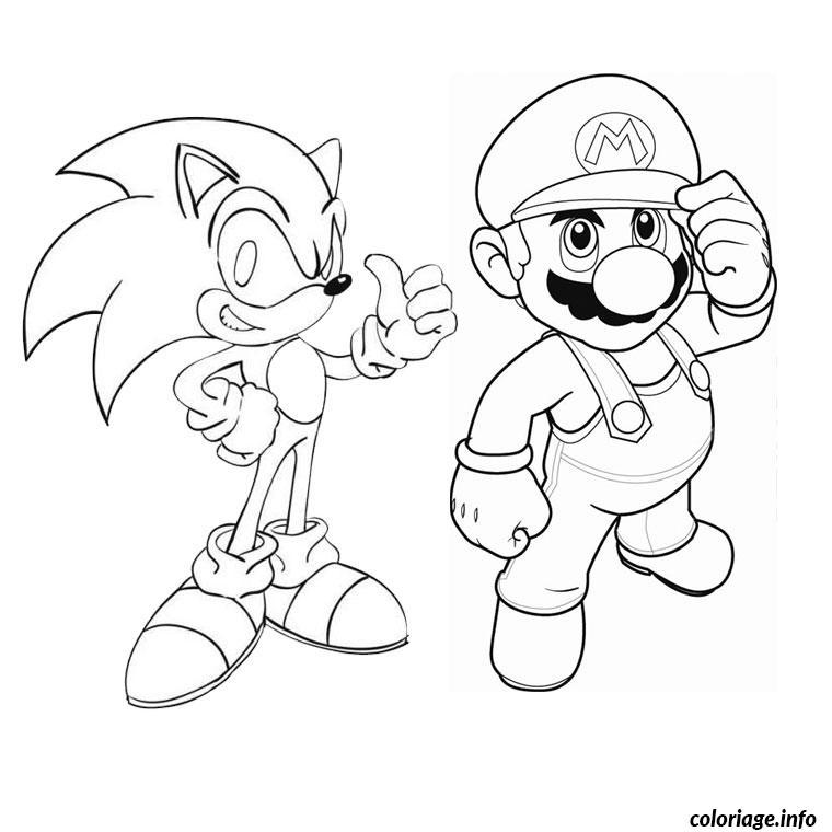 Coloriage Sonic Mario Jecolorie Com