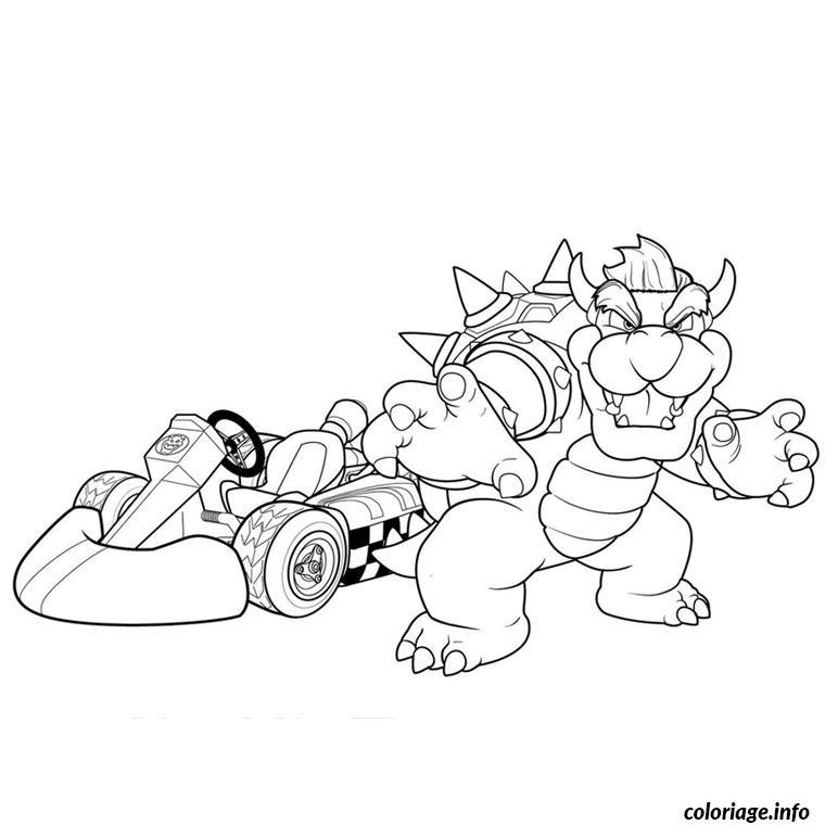 Coloriage Super Mario Kart Dessin