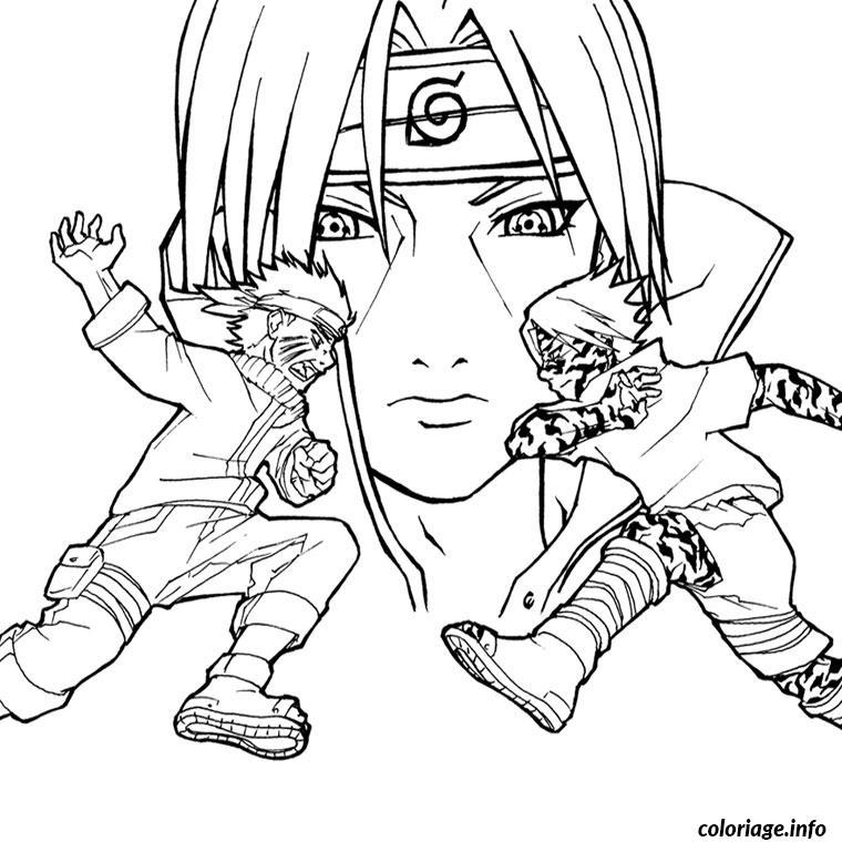 Coloriage Naruto Vs Sasuke Dessin