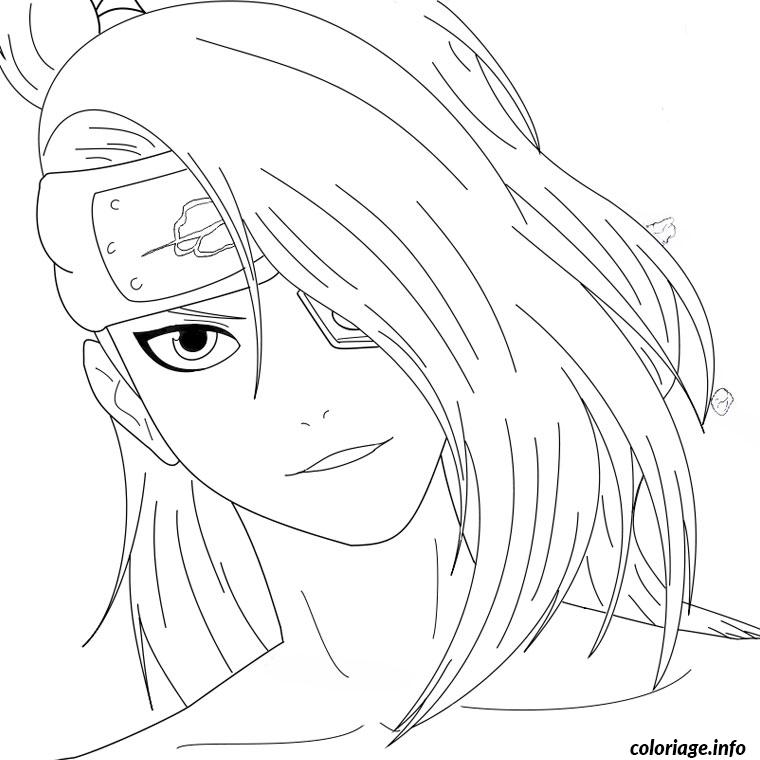Coloriage naruto hinata dessin - Dessin naruto manga ...