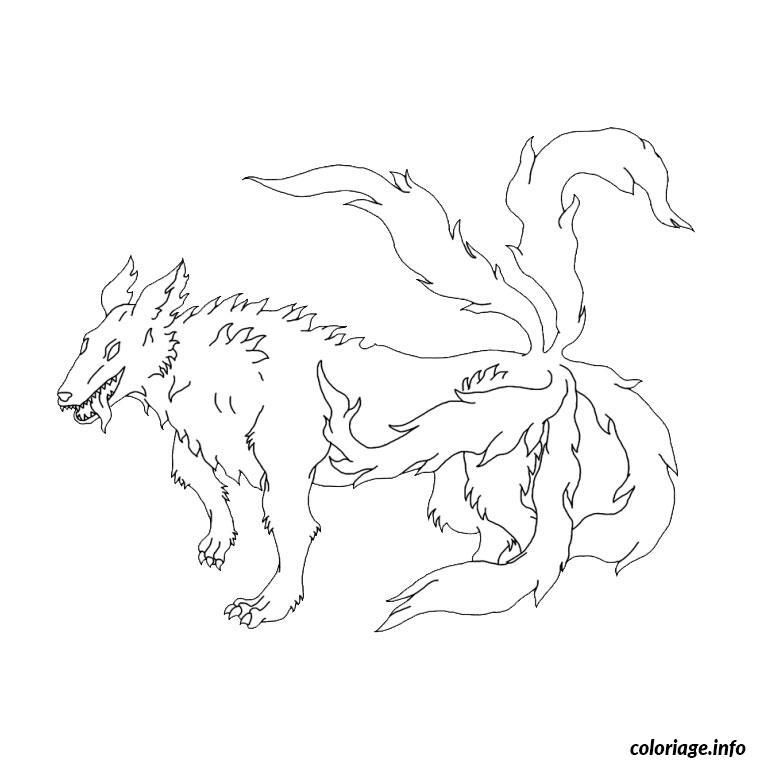 Dessin naruto renard Coloriage Gratuit à Imprimer