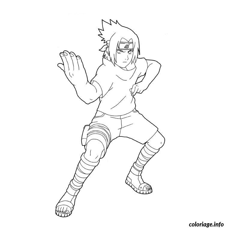 Dessin naruto sasuke Coloriage Gratuit à Imprimer