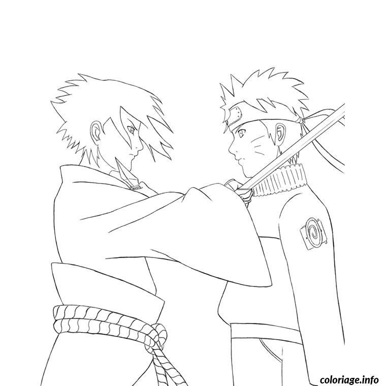 Coloriage Naruto Et Sasuke Dessin