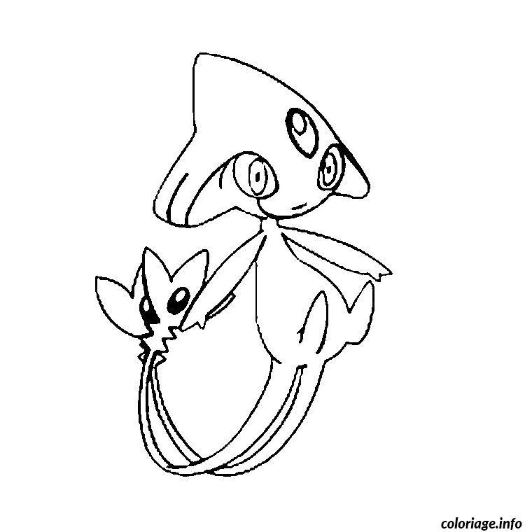 Dessin pokemon crefadet Coloriage Gratuit à Imprimer