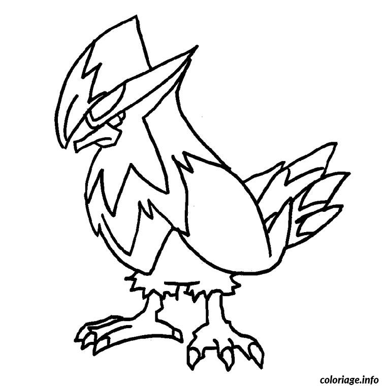 Coloriage pokemon etouraptor dessin - Dessiner pokemon ...
