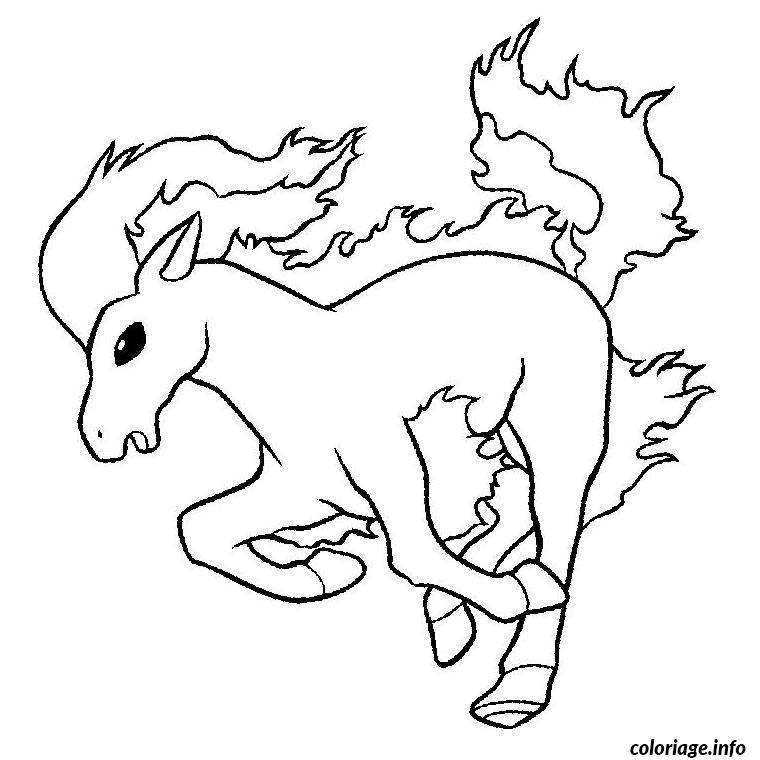 Dessin pokemon ponyta Coloriage Gratuit à Imprimer