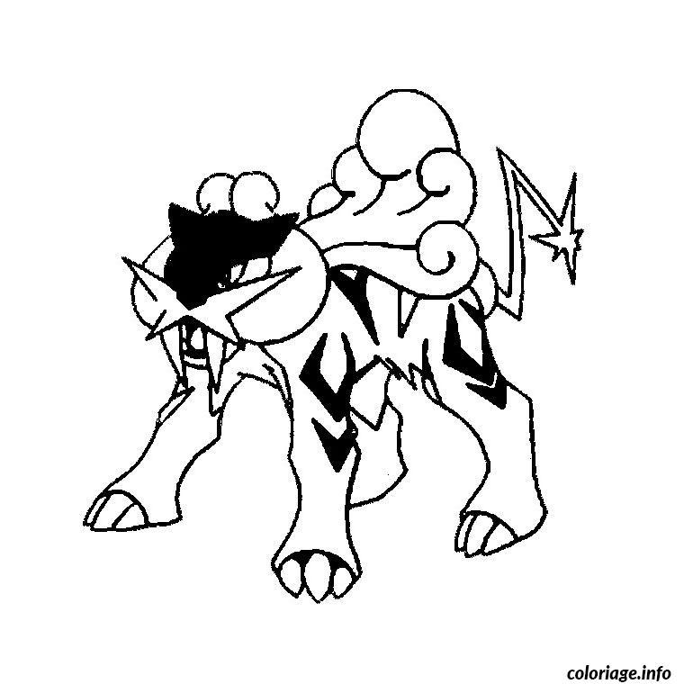 Coloriage pokemon raikou dessin - Photo de violetta a imprimer gratuit ...