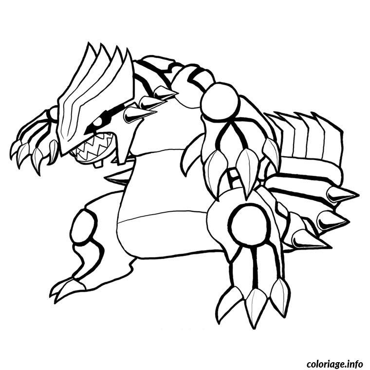 Dessin pokemon de groudon Coloriage Gratuit à Imprimer