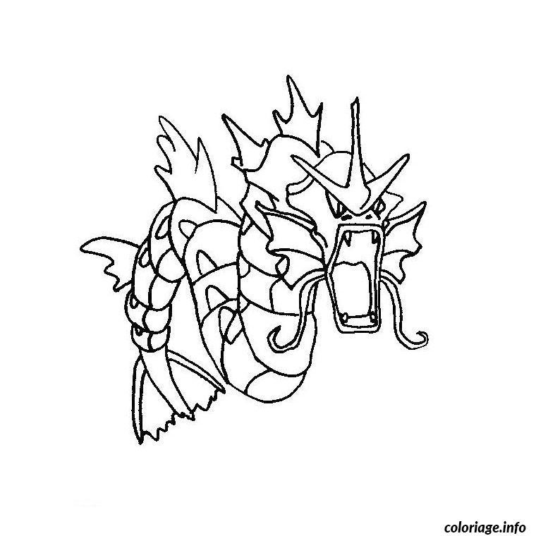 Dessin pokemon leviator Coloriage Gratuit à Imprimer