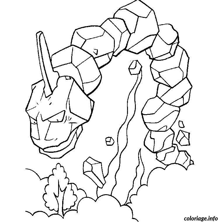 Coloriage pokemon onix - JeColorie.com