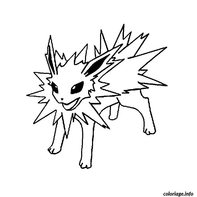 Coloriage pokemon voltali dessin - Dessin pokemon legendaire a imprimer gratuit ...