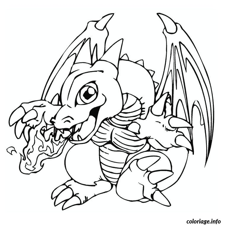 Coloriage mini dracaufeu ex pokemon dessin - Coloriage pokemon dracaufeu ...