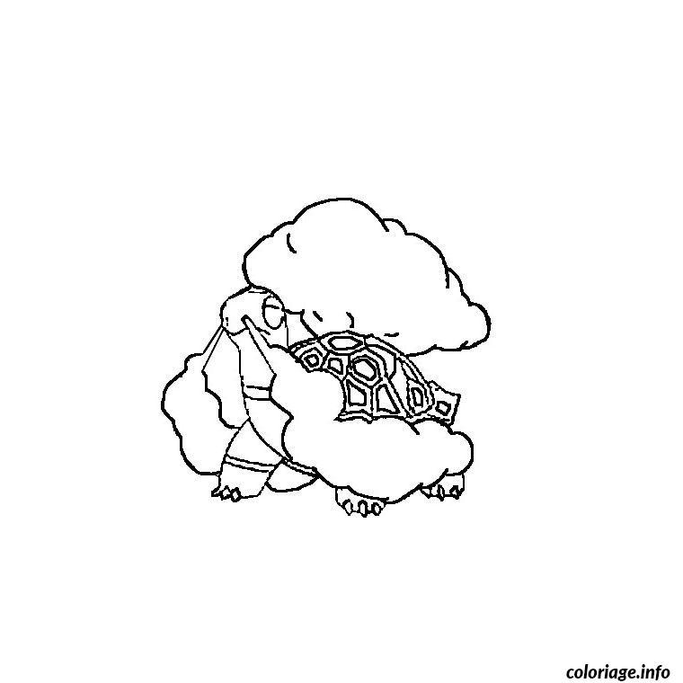 Dessin pokemon chartor Coloriage Gratuit à Imprimer