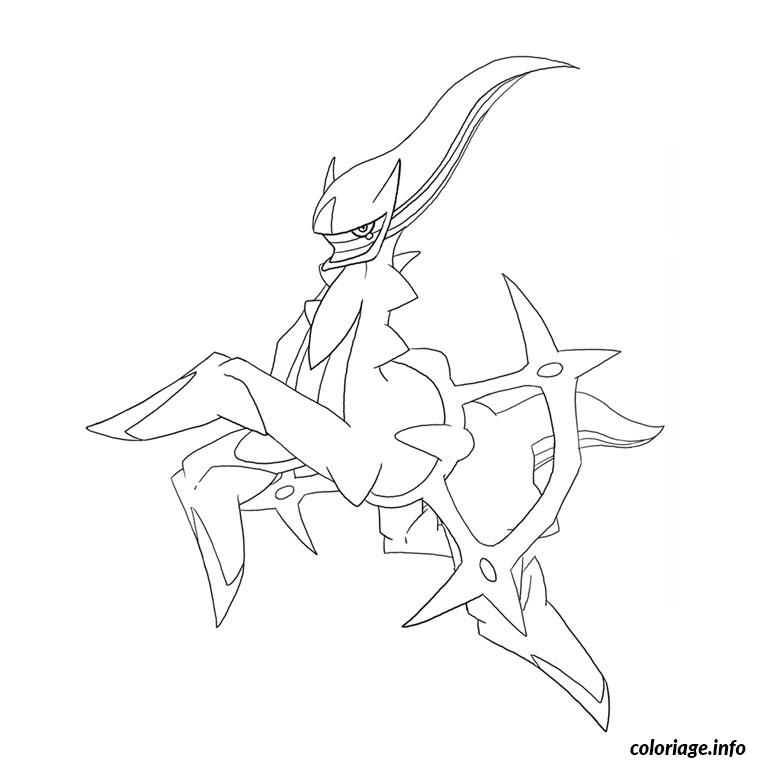Coloriage pokemon legendaire arceus - Dessiner pokemon ...