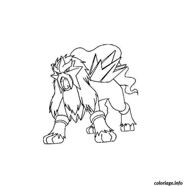 Coloriage Pokemon Entei Dessin