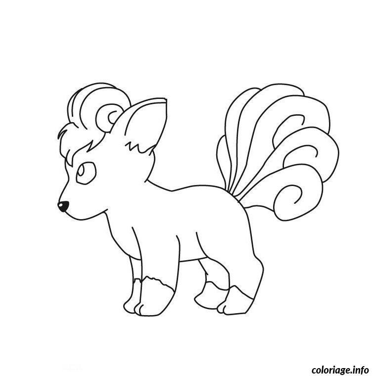 Dessin pokemon goupix Coloriage Gratuit à Imprimer