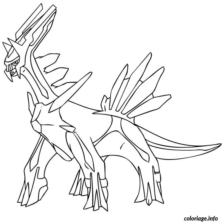 Coloriage Pokemon Dialga Dessin