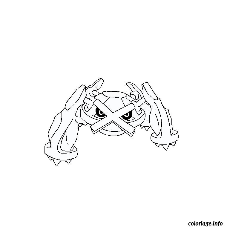 Dessin pokemon metalosse Coloriage Gratuit à Imprimer