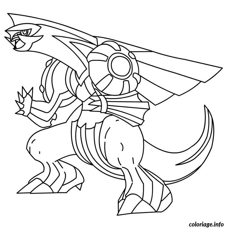 Dessin pokemon palkia Coloriage Gratuit à Imprimer