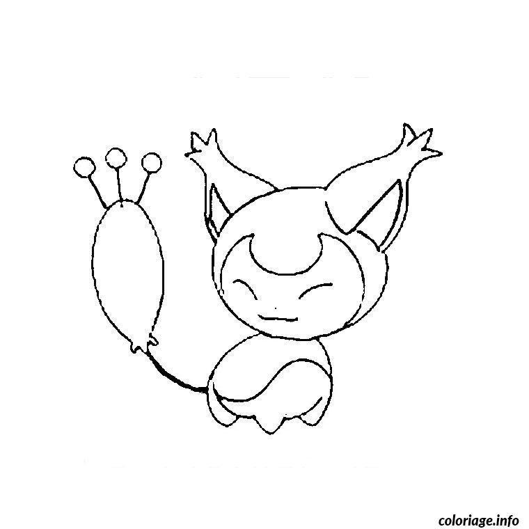 Dessin pokemon skitty Coloriage Gratuit à Imprimer