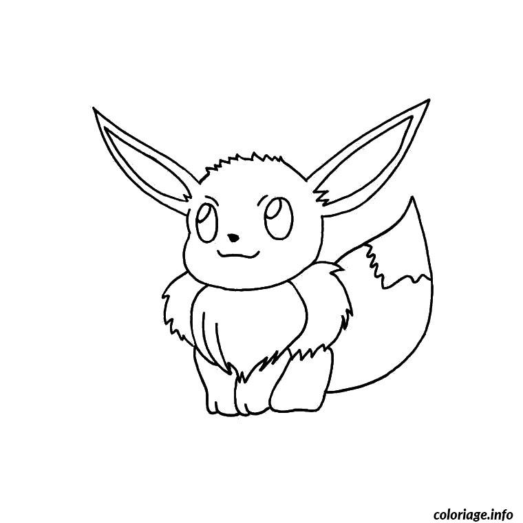 Coloriage Pokemon Evoli Dessin à Imprimer